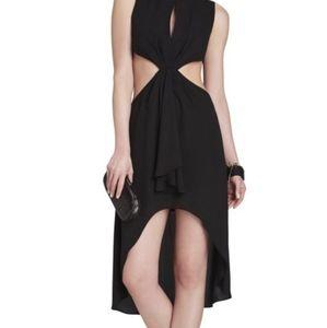 BCBG Dress Black High Low Size 6